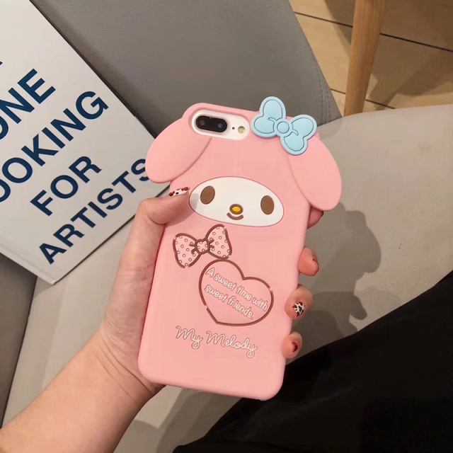 3D Japanese cute cartoon Melody Silicone phone case