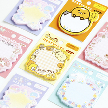 1pack/lot Kawaii Cartoon Lazy Egg Rabbits Paper Notepad Stickers Sticky School Memo Cute Melody Multi Design Office Home Student