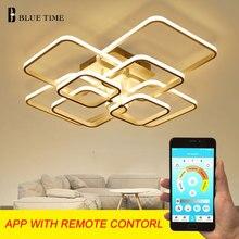 Luminaires modernes à la maison lustres LED pour salle à manger chambre salon noir/blanc/café fini LED lustre entrée AC220V