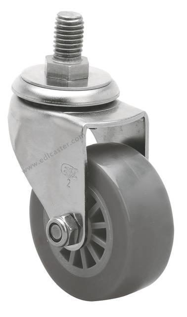 US $28 44  4PCS EDL Mini 2 Inch Stainless Steel Caster Wheels 40Kg  Polyurethane Wheels Castors Thread Swivel Roller Industrial for trolley-in  Casters