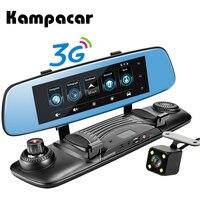 Kampacar 3G Android Smart Зеркало заднего вида 7,8 дюймов камера видеорегистратор автомобиля gps навигации Регистраторы Wi Fi регистраторы два объектива А