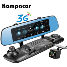 Kampacar Wifi Car 3G Android Smart Rearview Mirror Navigator 7.8″ DVRs Car Camera GPS Navigation Video Recorder Dash Cam Car Dvr