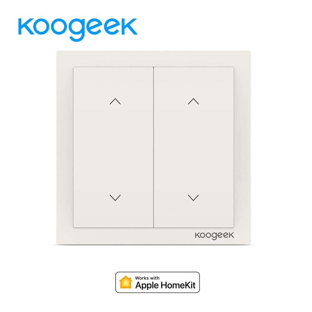 Koogeek 2 Gang WiFi Light Switch Wireless Siri Remote Control Light Switches Smart Home for Apple