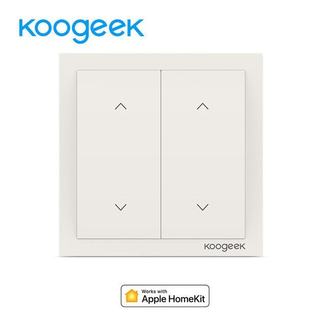 Interruptor de luz wi-fi Koogeek 2 Gang inalámbrico Siri Control remoto interruptores de luz hogar inteligente para Apple HomeKit Alexa Google asistente