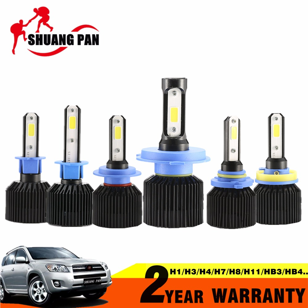 2pcs Car <font><b>LED</b></font> Headlight H1 H3 H4 <font><b>H7</b></font> H8 H11 HB3 9005 HB4 9006 COB 72W 8000LM Car <font><b>LED</b></font> Headlights Bulb Fog Light 6500K 12V <font><b>24V</b></font>