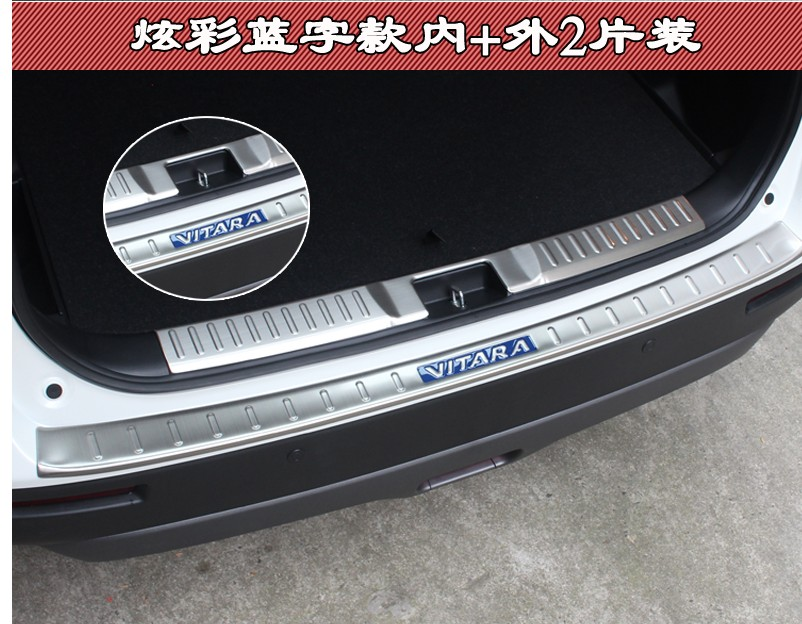 Car Styling For Suzuki Vitara 2015 2016 2017 Stainless Steel Rear Bumper Protector Sill Car Accessories
