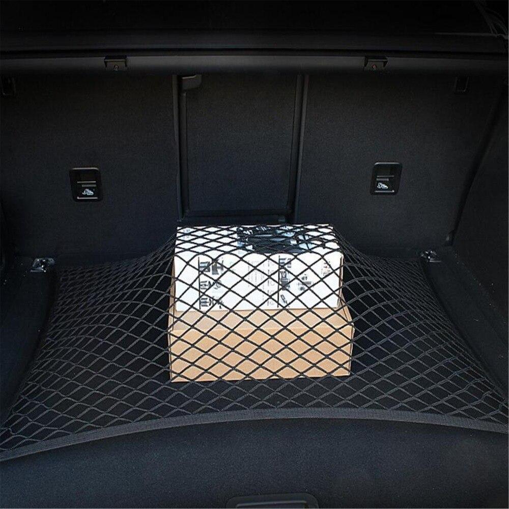 Auto Soins 60x80 cm Universel De Voiture Tronc Bagages-Bagages De Stockage Organisateur Nylon Élastique Maille Net Avec 4 En Plastique crochets