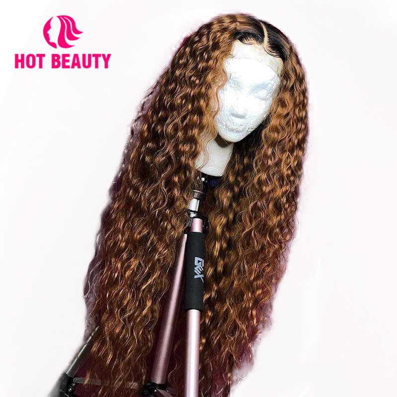 Lace Front Human Hair Wigs Deep Wave 1B/Brown Frontal Wig Brazilian Remy With Baby Hair Hot Beauty Free Custom Wigs