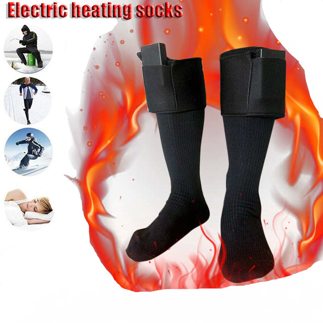 Men Women Electric Heated Socks Battery Foot Heating Socks Cycling Winter Warm Outdoor Sports Bike Sock