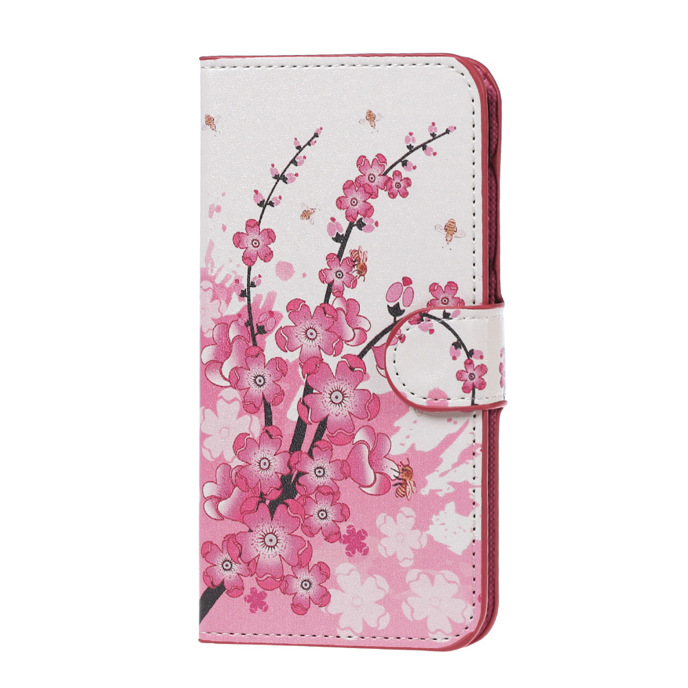 ZTE L5 PLUS case Pink Plum Magnetic Leather Wallet Handbag Book Cover Case For Flip ZTE BLADE L5 PLUS moblie phoone Cases coque