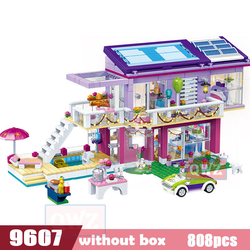 Legoes город девушка друзья большой сад вилла модель строительные блоки кирпич техника Playmobil игрушки для детей Подарки - Цвет: 9607 without box