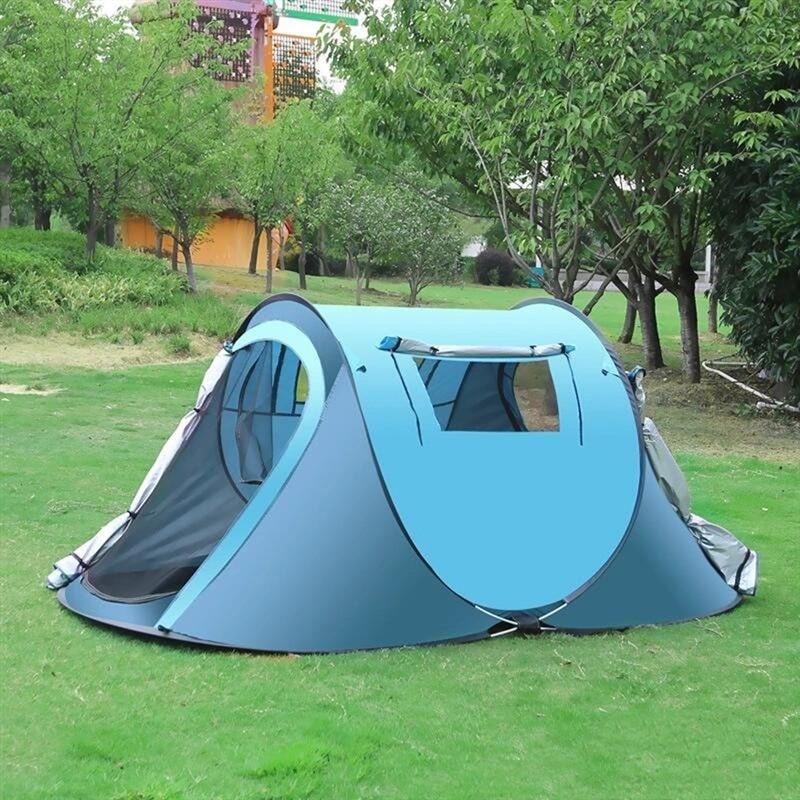Tentes automatiques complètement automatiques de Pop-up pour le Camping extérieur tentes automatiques de jet Camping imperméable augmentant l'anti grande tente de famille