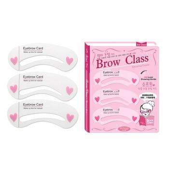3Pcs/set Eyebrow Makeup Tools Threading Artifact Thrush Aid Card Eyebrows Mold Cosmetic Accessories Hot SaleS1