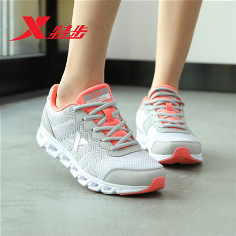 XTEP Cushioning 2017 women Sneakers women's Athletic Sport Shoes Running walking Shoes for Women free shipping 983118119066 2017brand sport mesh men running shoes athletic sneakers air breath increased within zapatillas deportivas trainers couple shoes