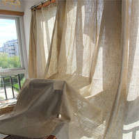 Custom Made Hot Sale Cotton Linen Curtains Decorative Cloth Curtain Simple Fabric Curtains For Living Room Cortinas Sheer Tulle