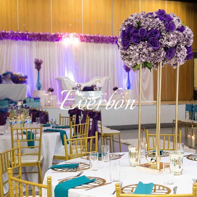 Wedding Flower Vase Metal Flower Stand Gold Flower Column Elegant Wedding Table Centerpiece Wedding Flower Decoration Vase Party Diy Decorations Aliexpress