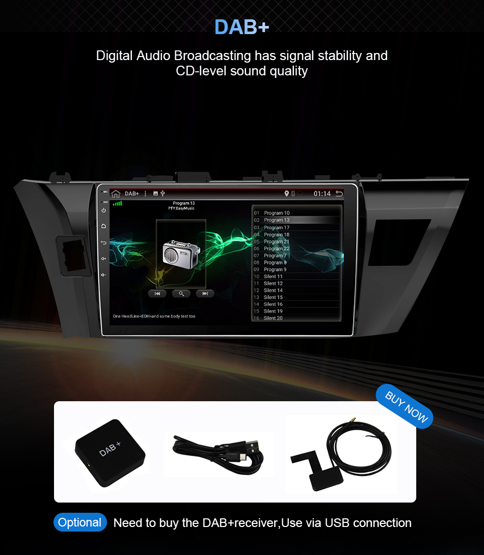 Clearance Eunavi 4G+32G Octa 8 core android 9.0 car dvd for Toyota Corolla E180 2013-2016 multimedia car radio gps navi PX6 Radio WIFI 22