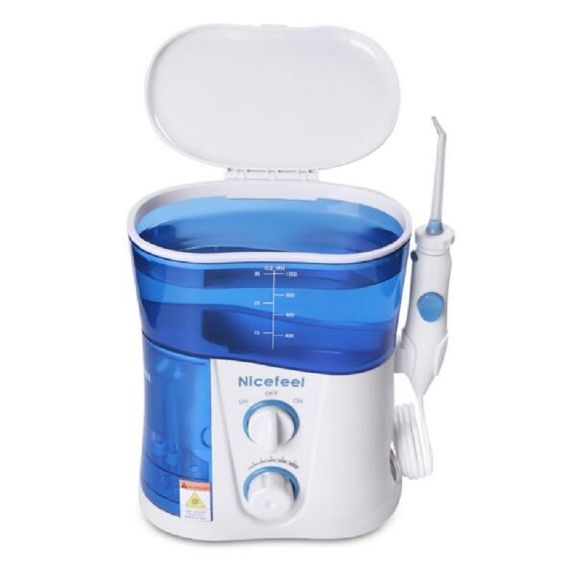Nicefeel FC-188UV 1000ML Water Flosser Dental Oral Irrigator Dental Spa Unit Professional Floss Oral Irrigator 7Pc