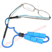 swimming and fishing eyewear adjustable sturdy eyeglass sport strap buoy floating cords retainer with silicon end tube floaters