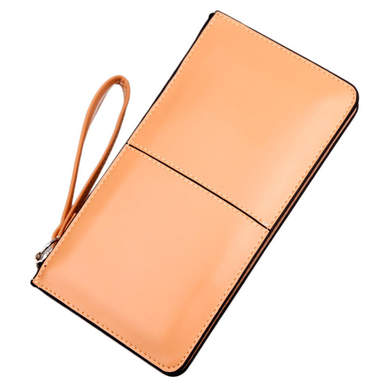 2017 New Women Purse Fashion Ladies Leather Thin Long Wallet Coin Card Holder  Purse Clutch Stitching Female Money Bag Gift A8