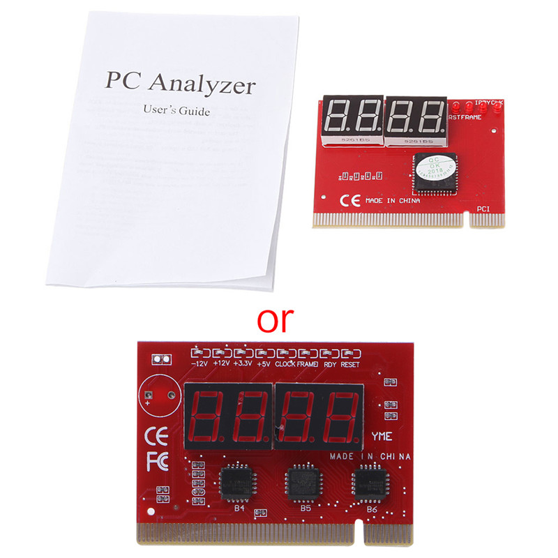 New Computer Analysis PCI POST Card Motherboard LED 4-Digit Diagnostic Test PC Analyzer Network Repair Tool Kit C26 1