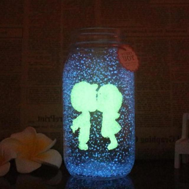 Sweet Gift Glow In The Dark 10g Luminous Party DIY Bright Noctilucent Sand Paint Star Wishing Bottle Fluorescent Particles Kid