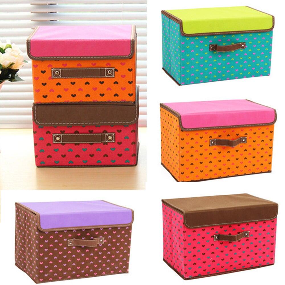 New Non Woven Fabric Folding Underwear Storage Box Bedroom: Storage Box Bag Non Woven Fabric Folding Case For Bra