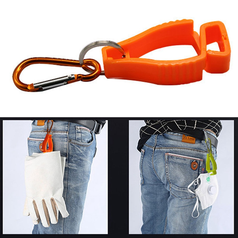 Image 2 - Plastic Glove Clip Red Working Gloves Clips Work Clamp Safety Work Gloves Guard Labor Supplies Random Color Delivery-in Safety Gloves from Security & Protection