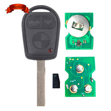 KEYECU 3 Button Remote Key 315MHz/ 433MHz ID44 Chip FOB for BMW 3 5 7 X5 X3 Z4 E38 E39 E46 HU92