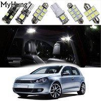 For Volkswagen Golf MK4 5 6 7 GTI Tour Car Led Interior Light Replacement Bulbs Dome Map Lamp Light Bright White 13PCS