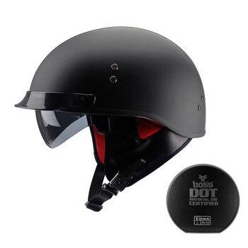 black Vintage motorcycle helmet open face helmet DOT approved half helmet Retro moto casco capacete motociclistas capacete цена 2017