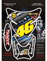 3D Motorcycle Universal Fish Bone Gas Tank Pad Protector Decal Sticker Flame Skull Tank For Honda CBR250 Yamaha Suzuki Kawasaki