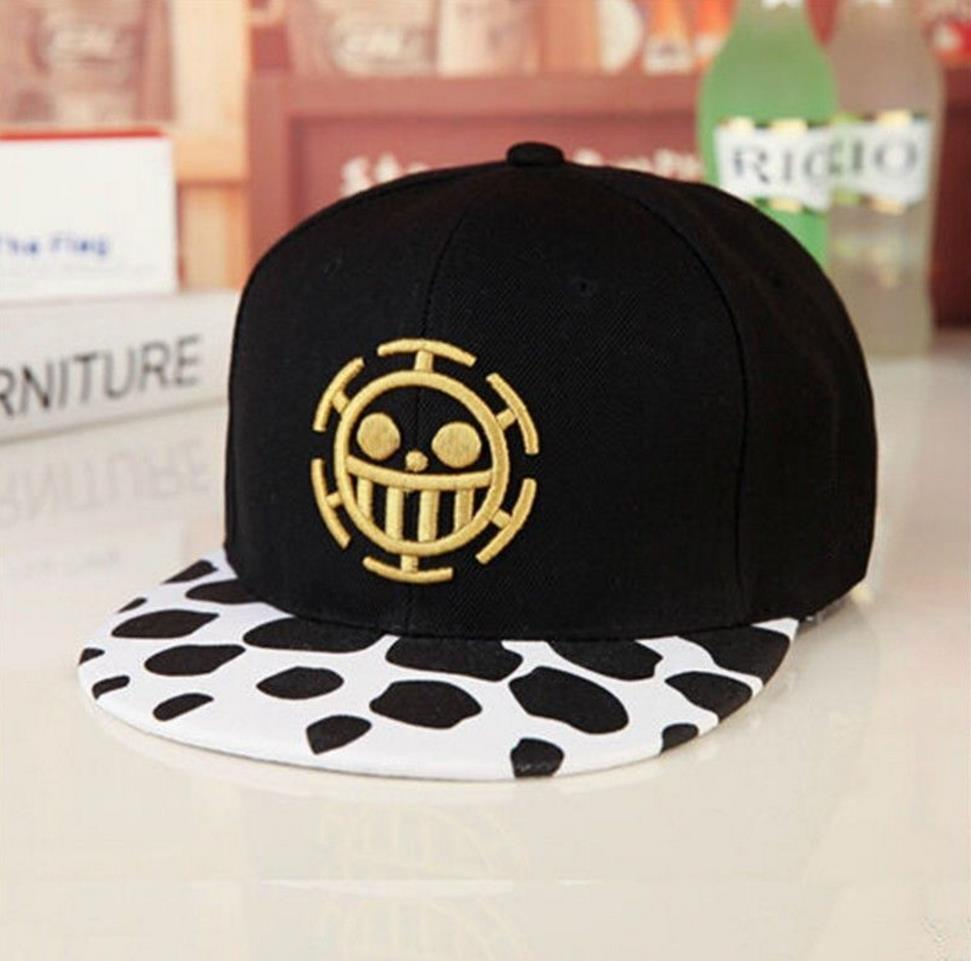 Anime One Piece Trafalgar Law Sign Skull Head Baseball Caps Sunhat Cosplay Hats
