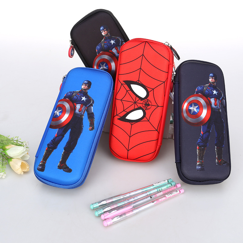 Spiderman Captain America Pencil Case Box Super hero Batman Pen Bag Multifunction Pencilcase for Boys School Stationery Tool perfect pencil case pencil bag feather sleeve pencil case for 72 pen color blue
