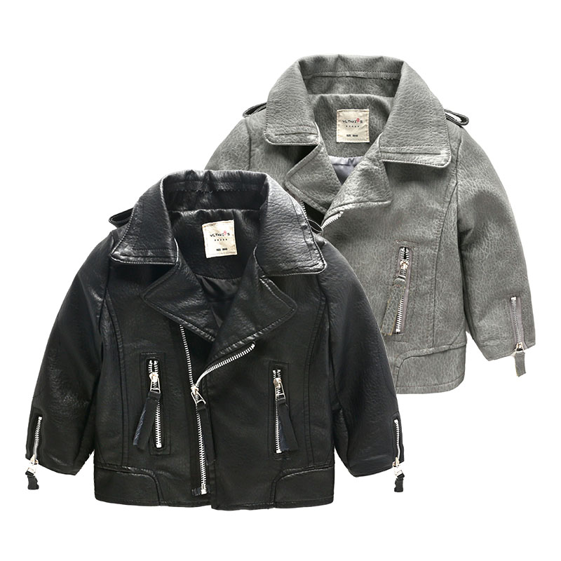 Popular Black Leather Jackets for Kids-Buy Cheap Black Leather ...