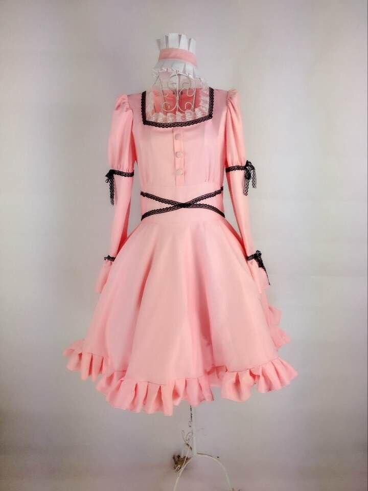 Anime chaud Mirai Nikki cosplay Uryuu Minene (9th) cos filles Halloween fête quotidienne robe de palais (robe + coiffure + collier noir)