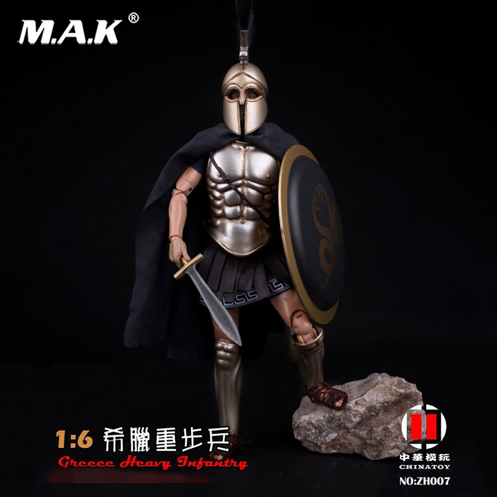Full set China Toy 1/6 ZH007 Greece Heavy Armor Infantry 12'' Male Soldier Figure Model Toy for Collection set plastic toy small soldier boy sand table model toy full 300pcs set soldier military bases set classic toys free shipping