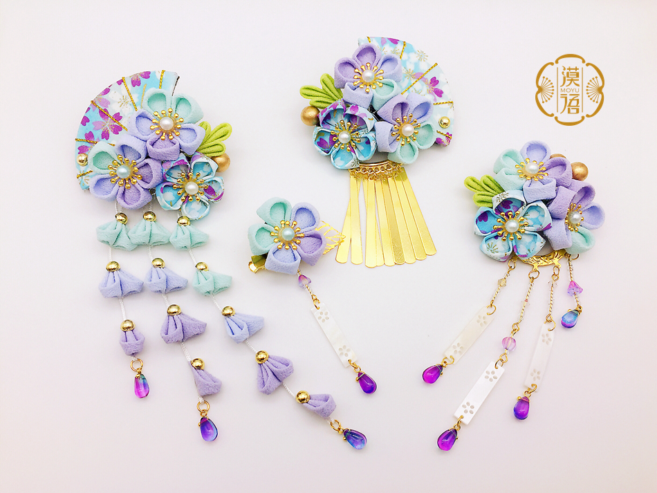Traditional classical Hair accessories Photo shoot bridal headdress Japanese-style hair accessories 2