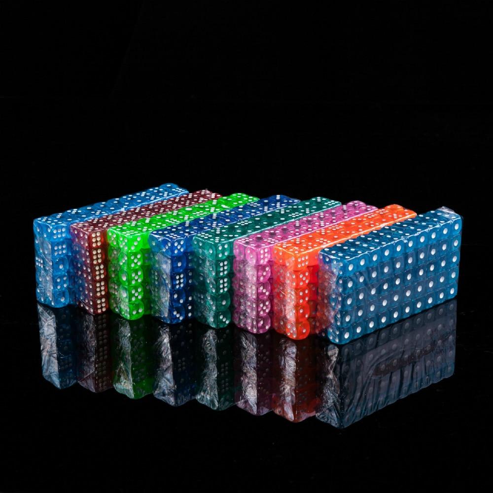 100/conjunto de vendas de comércio exterior cor transparente acrílico dados 14mm