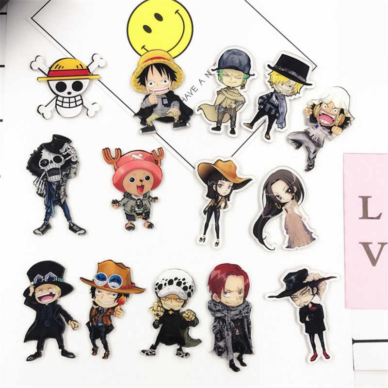 1PCS Anime ONE PIECE badge del fumetto icone su zaini distintivo acrilico kawaii pin per i vestiti accessori spilla decorazione