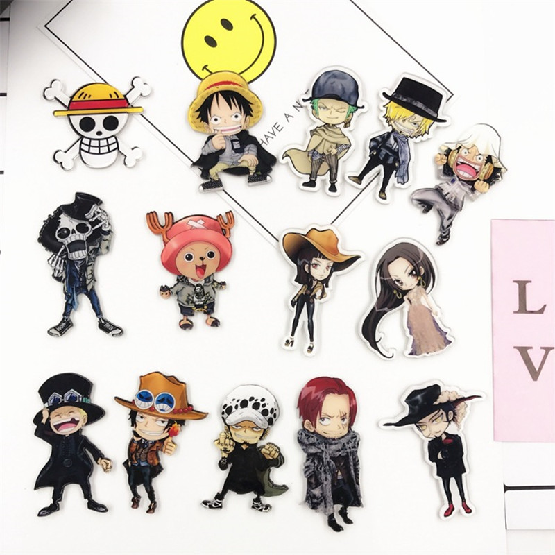 1PCS Anime ONE PIECE Badges Cartoon Icons On Backpacks Acrylic Badge Kawaii Pins For Clothes Brooch Accessories Decoration