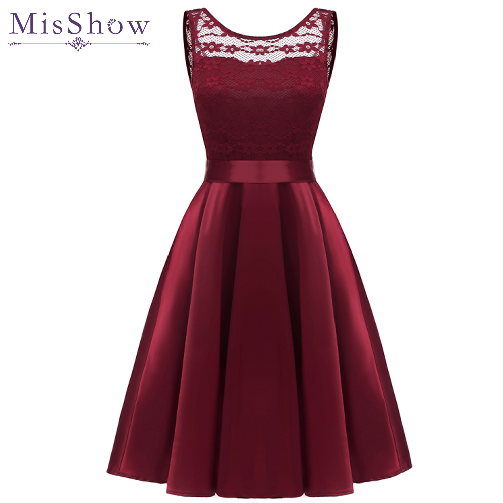 Cheap Cocktail Dresses Simple A-Line lace & Satin Summer Women 2019 Short Vestidos plus size Sexy Women Cocktail Prom Dress