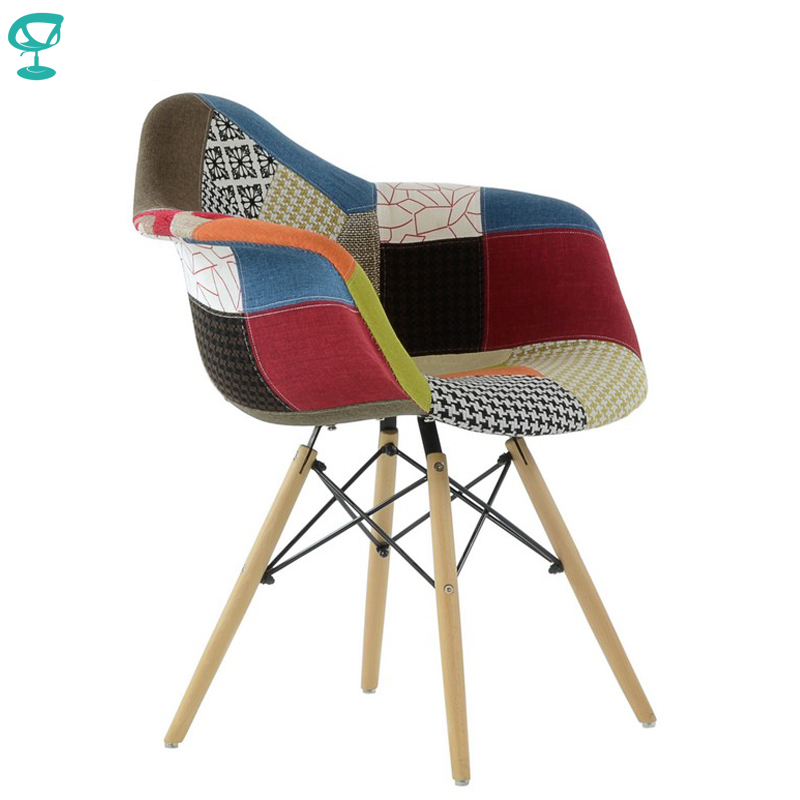 95375 Barneo N-14 Fabric Multi Patchwork Kitchen Breakfast Interior Stool Bar Chair Kitchen Furniture Free Shipping In Russia