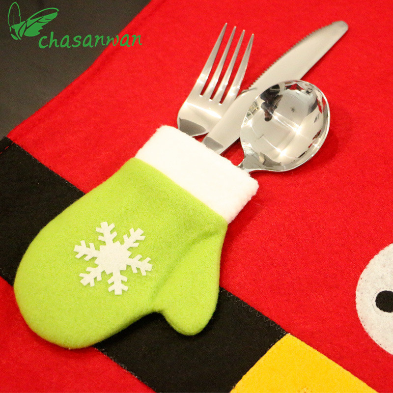 1 piezas decoraciones navideñas decoración del hogar manteles - Para fiestas y celebraciones - foto 4