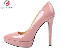 الأصلي نية عالية الجودة المرأة مضخات مكتب والتوظيف أشار تو رقيقة الكعوب مضخات براءات أحذية من الجلد امرأة حجم 4-15