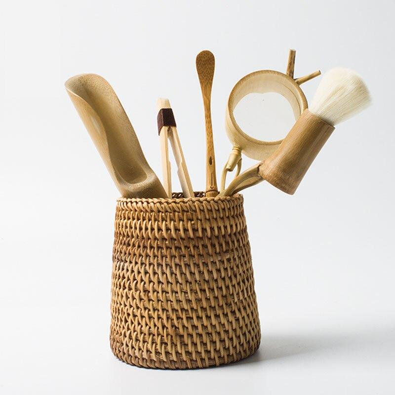 6 pièces/ensemble à la main en rotin de haute qualité chinois Kongfu thé cérémonie ustensiles ensemble bambou thé accessoires outils - 5