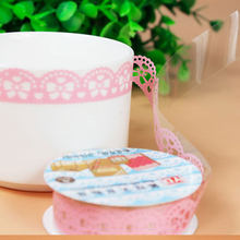 Clearance Price Lace Paper Album Decoration DIY Sticker Cute Cutout Lace Tape for Photo Scrapbooking Wedding Scrapbook Album(China)