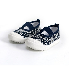 COZULMA Kids Floral Classic Slip-on Canvas Shoes Girls Spring Summer Fashion Sneakers Children Casual Shoes Size 21-30 стоимость