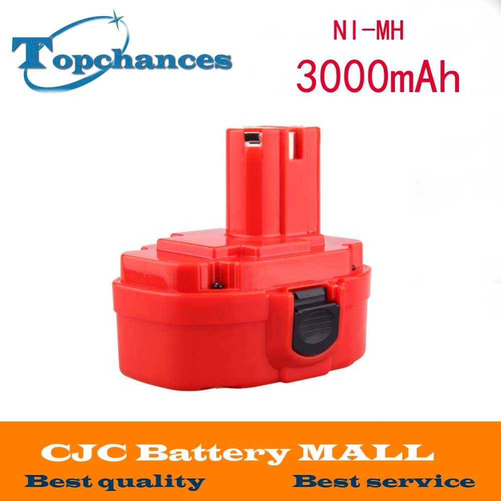 For Makita 18V Rechargeable Battery Batteries Pack Replacement Electronics Power Tools 3000mAh Ni-MH 192827-3 Original 24v 3000mah 3 0ah rechargeable battery pack power tools batteries cordless drill ni mh battery for makita bh2430 bh2433