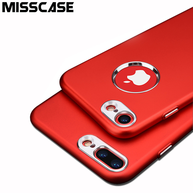 MISSCASE Metallic Paint Matte TPU Soft Silicone Phone Case For iPhone 6 6s 7 plus Cases with Metal Key Cover Case for iPhone 6 7